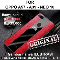 Porsche case Oppo A57 - A39 Neo 10 softcase casing cover leather kulit - Black