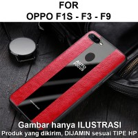 Porsche case Oppo F1s - F3 - F9 softcase casing cover leather kulit - F3, Black