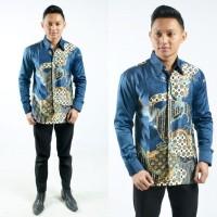 Baju Batik Pria Semi Sutra Lengan Panjang
