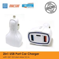 LOLYPOLY Car Charger Fast Charging Qualcomm 3.0 Power Delivery - 06183 - Hitam