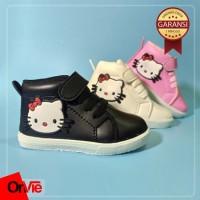 Onvie sepatu Anak Boots Motif Karet 3D Hello Kitty GARANSI 1 MINGGU