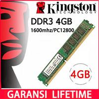 Memory Pc Ddr3 Kingston 4g - 4GB 1600MHZ