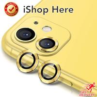 Aluminium Back Camera Protector Anti Gores Kamera iPhone 11 11 Pro Max - iPhone 11, Yellow Gold