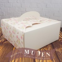 DUS/BOX KOTAK KUE CAKE PUDDING KADO PESTA ( 22 X 22 X 10 cm )