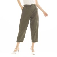 Kama Linen Pants in Army Beatrice Clothing - Celana Bahan Wanita