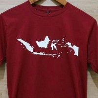 Atasan pria t-shirt kaos oblong peta Indonesia M L XL XXL keren murah