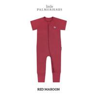 LITTLE PALMERHAUS Baby Sleep & Play Suit (MAROON)