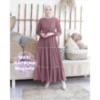 MAXI KATRINA MAGENTA [Gamis 0121] TF0 Baju Gamis Wanita Terbaru