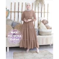 MAXI KATRINA COKSU [Gamis 0121] TF0 Baju Gamis Wanita Terbaru