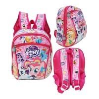 Tas Ransel PAUD Little Pony Cute Bahan Kain Sponge Anti Air - Pink