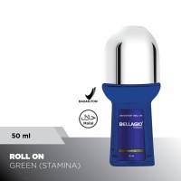 Bellagio Deodorant Roll On Stamina (Green, 50ml)