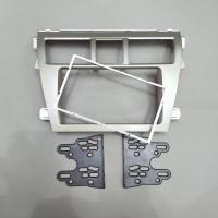 Frame head unit tv mobil double din audio mobil Toyota Vios Silver