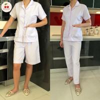Baju seragam suster/ baju baby sitter/ baju nanny (putih polos)