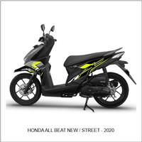 Striping Stiker variasi Motor Honda Beat New - Street 2020 Grafis 01