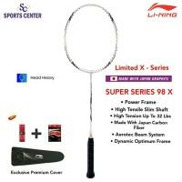 New Limited X Series Raket Badminton Lining Super Series SS 98 X White