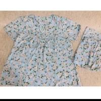 setelan baju tidur yumiko motif bunga
