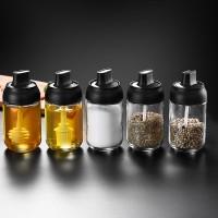 2672 Botol Bumbu/madu Bahan Kaca Anti Lembab Dengan Sendok