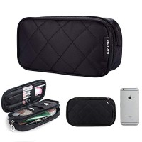 HOYOFO Double-Sided Cosmetic Pouch Bag for Travel Makeup Brush Organiz