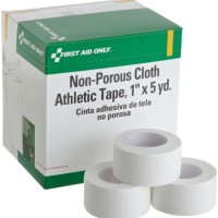 First Aid Only 1 X 5 Yd. Non-porous Cloth Athletic Tape Roll, 10-Coun