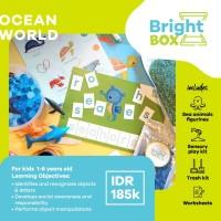 Mainan Sensori - OCEAN WORLD - Flashcards Pretend Play 1-8 thn