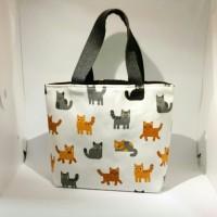 Premium Mini Tote Bag Kanvas / Tas Mini Penyimpanan Serbaguna