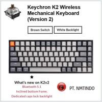 Keychron K2 version 2 Brown Switch White Backlight Plastic Frame