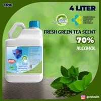 TRiC Green Tea Antiseptic Hand Sanitizer | Liquid | 4 L Jerigen