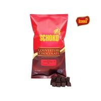 SCHOKO Couverture Dark Chocolate 72% Cube - 1Kg / Coklat Batangan