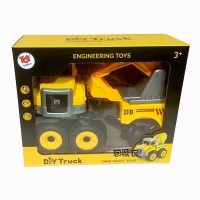 Toy Addict DIY Engineering Excavating Truck Vehicle DIY Truk Versi2