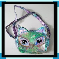 Tas Selempang Sequin Blink Anak Colorful Blink Light Owl ZHAC040