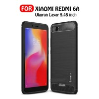 Case Xiaomi Redmi 6A Ipaky Carbon Soft Series Hitam