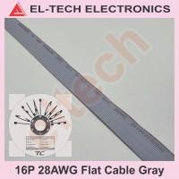 1 Meter 16P 16Pin 16 P Pin Flat Cable Gray Kabel Data Pita Abu-abu