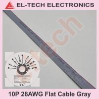 1 Meter 10P 10Pin 10 P Pin Flat Cable Gray Kabel Data Pita Abu-abu
