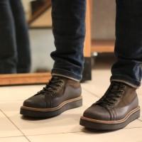 Bradley Morrison Hitam Army Boots Sepatu Kulit Pria Original Handmade