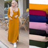 maxi dress panjang baju muslim long maxy longdress polos santai casual