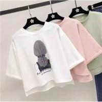 tshirt kaos atasan baju wanita tee t shirt anak remaja korea blouse