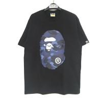 BAPE Colors Camo Big Ape Head T-shirt - Black/Blue 100% Original