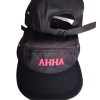 Topi Snapback 5 Panel Logo AHHA Premium