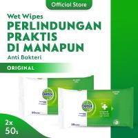 Dettol Wipes Original - isi 50 lembar x 2 pcs - Tisu Basah Anti Kuman