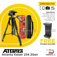 Attanta Kaiser 234 2Gen Tripod Profesional Video,Kamera,Camera Orginal