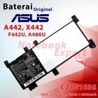 Baterai Ori ASUS A442 X442 F442U, A480U C21N1638