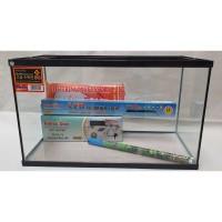 Paket aquarium Nikita 60 cm M dengan Lampu atas LED