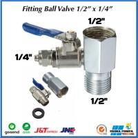 Fitting Ball Valve Ro Stainless 1/2X1/4 Ball Valve Ro Ss 1/4 Ro