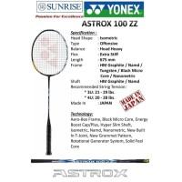RAKET BADMINTON YONEX ASTROX 100ZZ 100 ZZ ORIGINAL Free senar - 4UG5