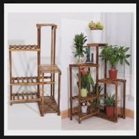 rak sudut/rak tanaman sudut/rak tanaman kayu/rak display kayu