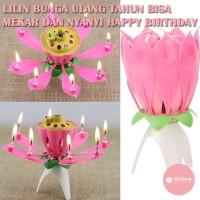 Lilin Bunga Ulang Tahun Tarian Kembang Api dan lagu Happy Birthday