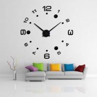 Jam Dinding Besar DIY Giant Wall Clock Quartz Number Design Arcylic