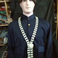 Kalung Karset Rafi Aksesories Perlengkapan Baju Pengantin Pria Jawa