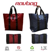 Shopping Bag / Tas Belanja Lipat bahan kanvas waterproof tebal Recycle