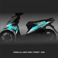 Striping Stiker variasi Motor Honda Beat ESP Street New RACING STREET
